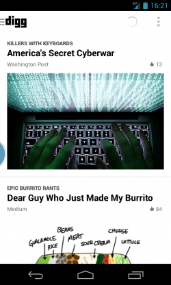 Digg - News feed