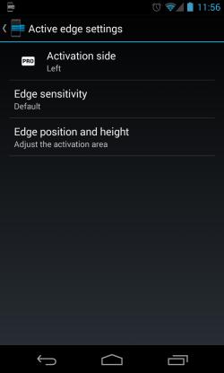 Edge - Activation settings