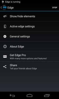 Edge - Settings
