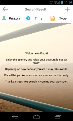 FindIt - Loading account