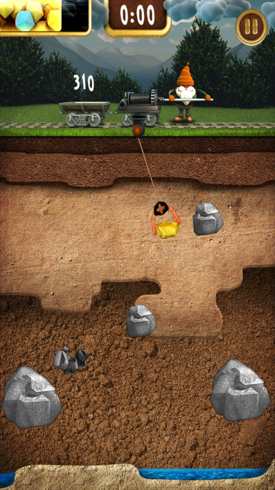 Gold Miner Fred – a must play addictive gold grabber game testing your speed & timing!