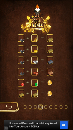 Gold Miner Fred - Items Legend