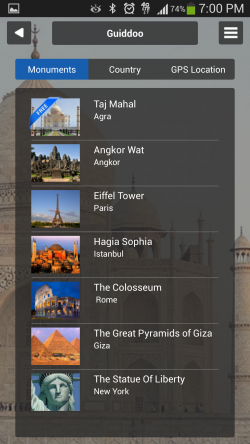 Guiddoo - List of Monuments
