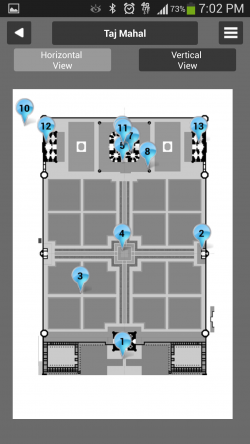 Guiddoo - Taj Mahal Floor Map