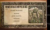 Incredipede - Menu