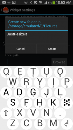 JustResizeIt - Setup Local Destination Folder