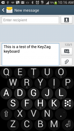 KeyZag Keyboard Free - Dark Theme