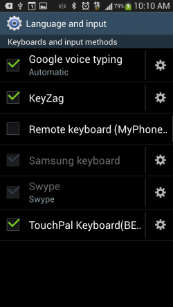KeyZag Keyboard Free - Input and Language Settings
