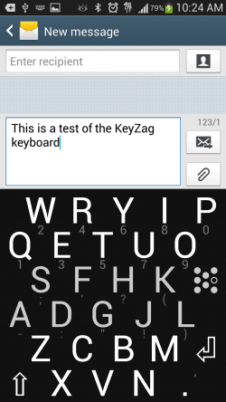 KeyZag Keyboard Free - Large Dark Theme