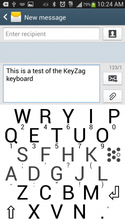 KeyZag Keyboard Free - Large Light Theme