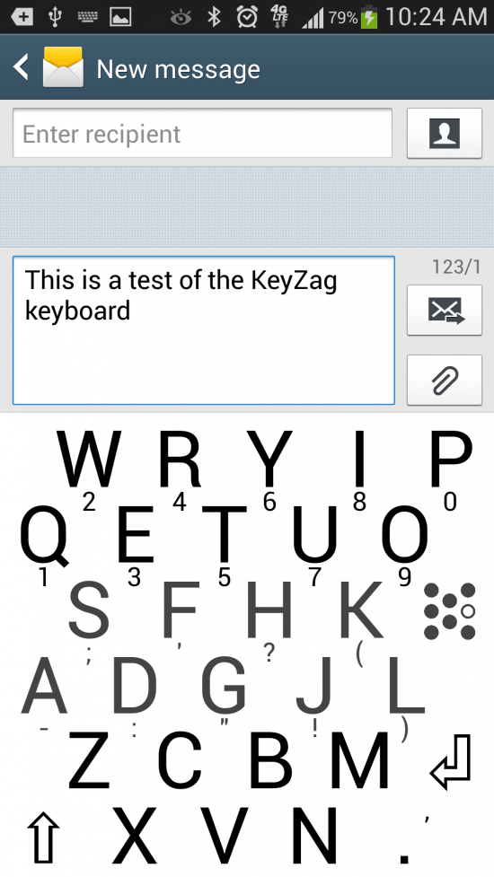 KeyZag Keyboard Free – a larger keyboard for larger fingers