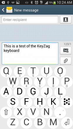 KeyZag Keyboard Free - Light Theme