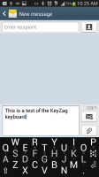 KeyZag Keyboard Free - Small Dark Theme