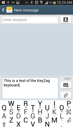 KeyZag Keyboard Free - Small Light Theme
