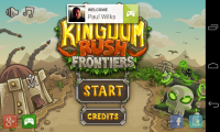 Kingdom Rush Frontiers - Google Play log in and menu