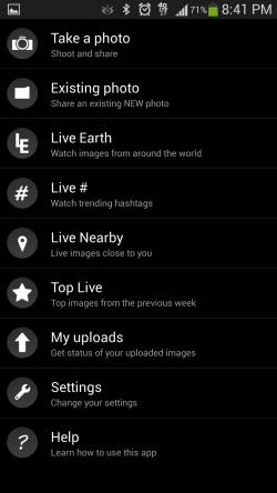 Live Earth - Options