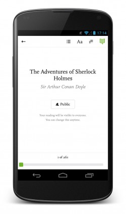 Readmill – ebook reader for Android