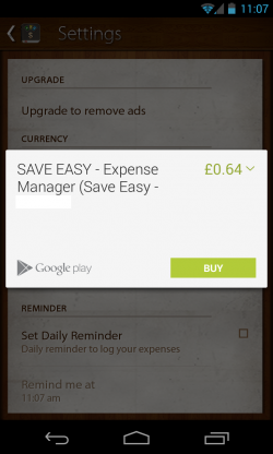 Save Easy - In app purchase