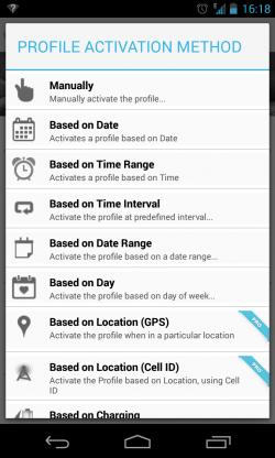 Profile Flow – Profile Activation Method