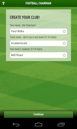 Football Chairman - Create