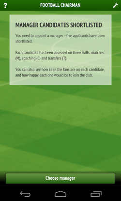 Football Chairman - Manager