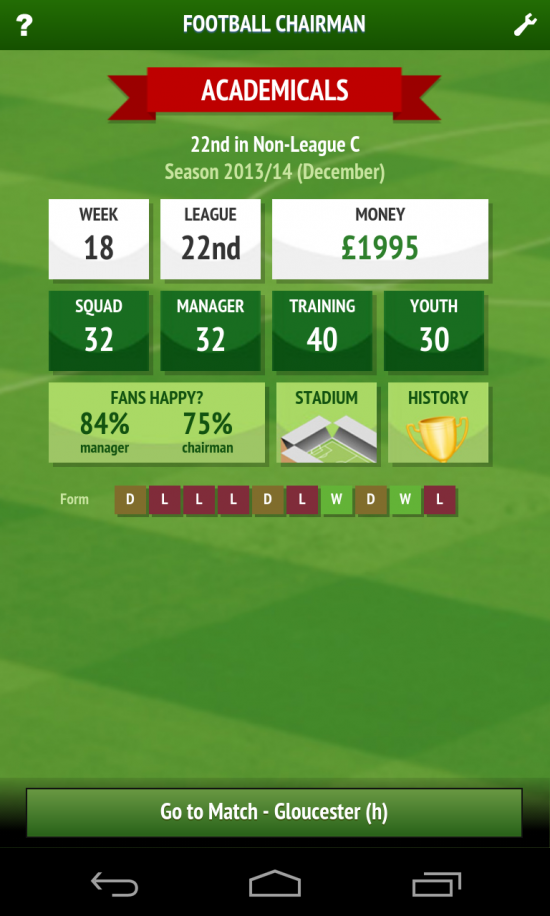 Football Chairman – play as the ultimate decision-maker of a football team
