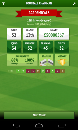 Football Chairman – Homepage