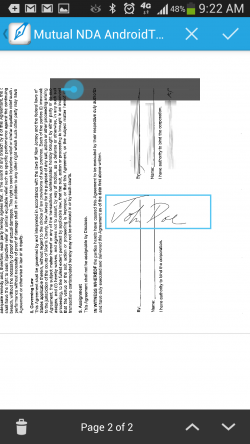 SignEasy - Signing Document