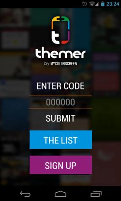 Themer - Enter code