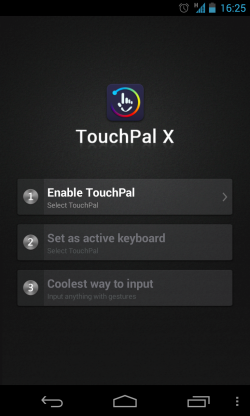 TouchPal X - Enable