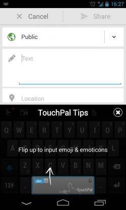 TouchPal X - Tips