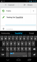 TouchPal X - Typing is fluid and simple to do