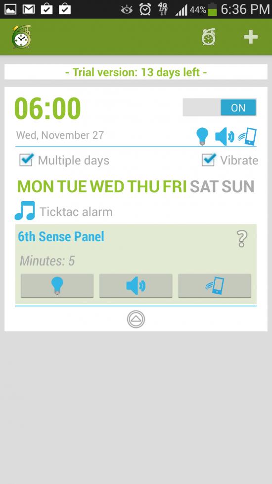 6th Sense Alarm Clock – smart alarm clock app senses if you're actually awake!