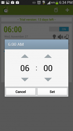 6th Sense Alarm Clock - Set Alarm