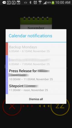 Calendar Plus - Notification Popup