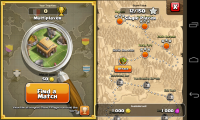 Clash of the Clans - Battle map