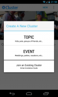Cluster - Create new