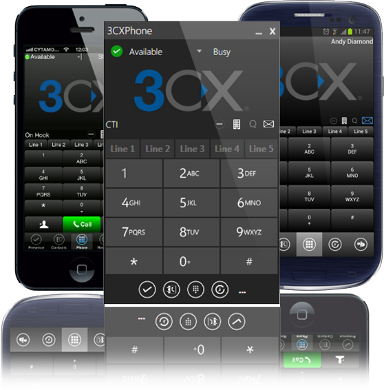 3CXPhone app lets you carry your office phone extension around with you! (Sponsored)