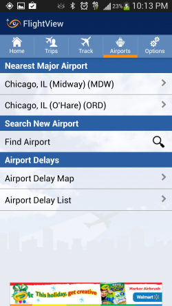 FlightView Free Flight Tracker - Airports