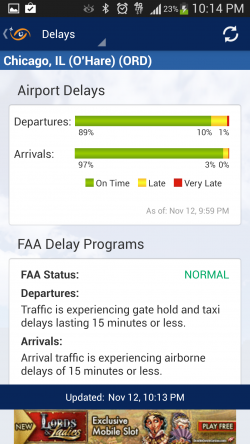 FlightView Free Flight Tracker - Delays