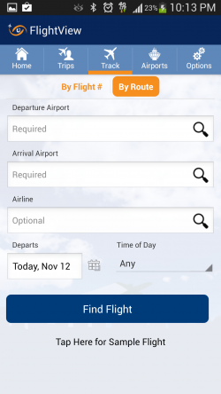 FlightView Free Flight Tracker - Track Flights by Route