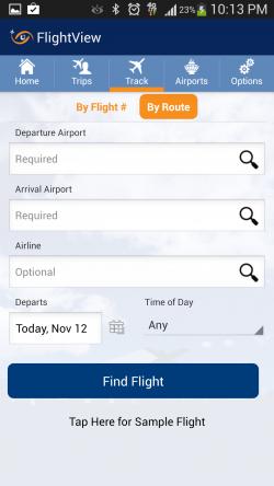 FlightView Free Flight Tracker - Track Flights by Route