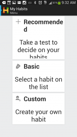 Habitizer - Getting Started