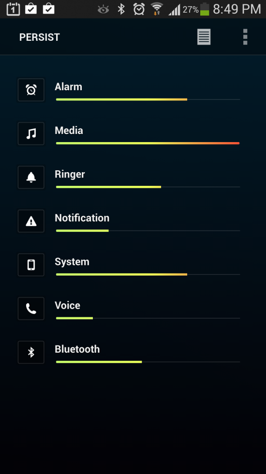 Persist + (Volume Control) app with smart presets