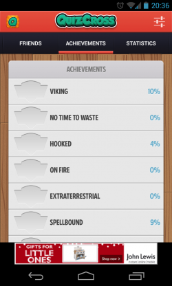 QuizCross - Achievements