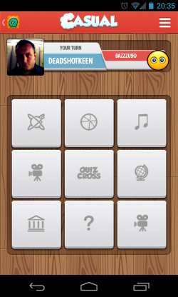 QuizCross - Select category