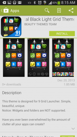 9 Grid Launcher - Download Themes from Google Play
