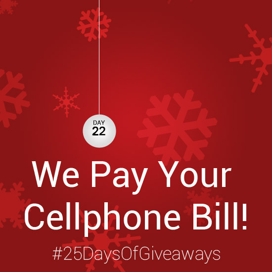 Day 22: #25DaysOfGiveaways – AndroidTapp.com Pays Your Cellphone Bill!