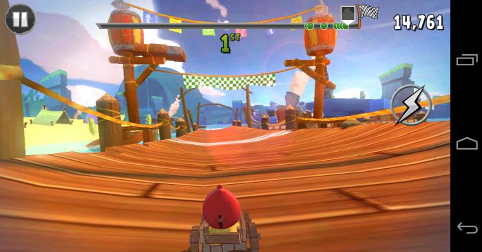 Angry Birds Go - Finish line