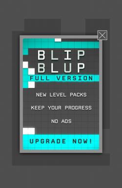 Blip blup - Upgrade ads
